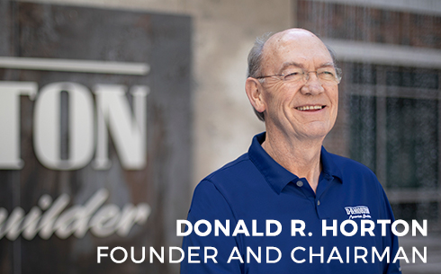 Donald R Horton founder and chairman