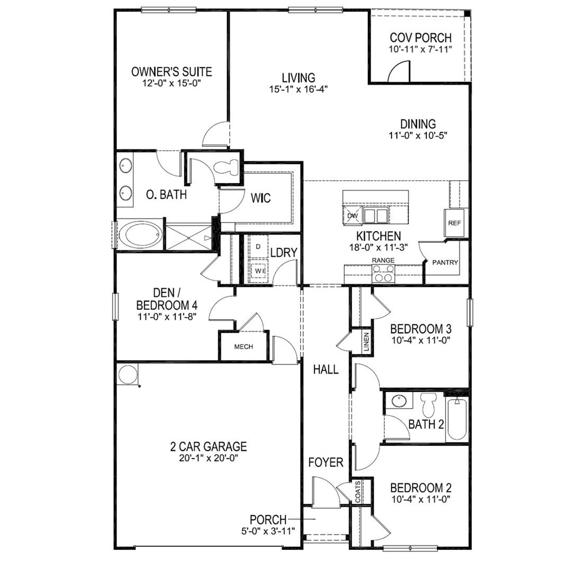 The Cali - New Home Floor Plan