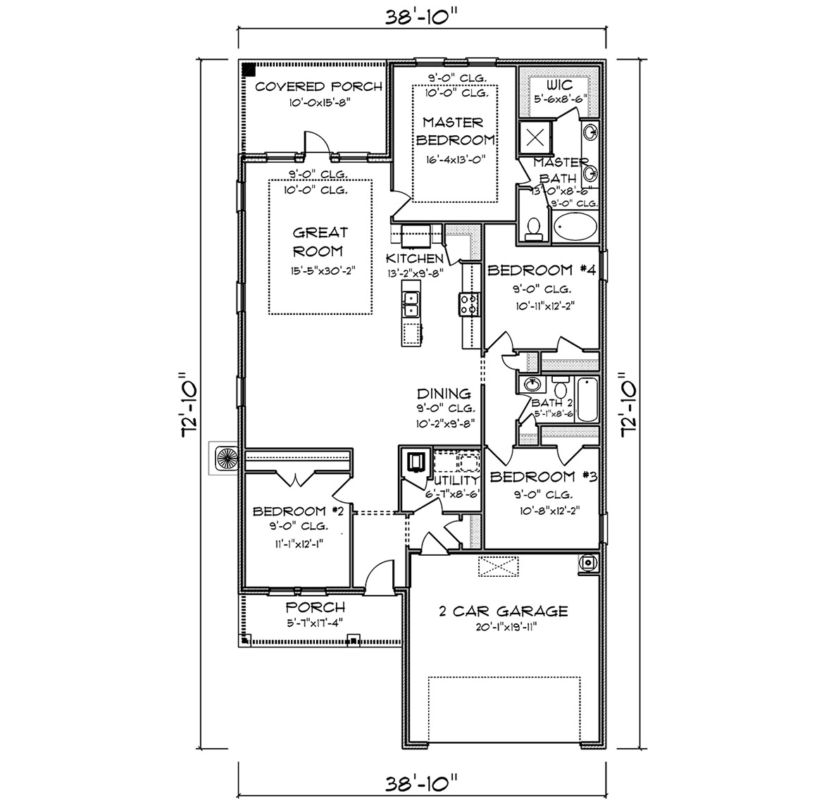 Huntington Creek Apartments: New Home Floor Plan