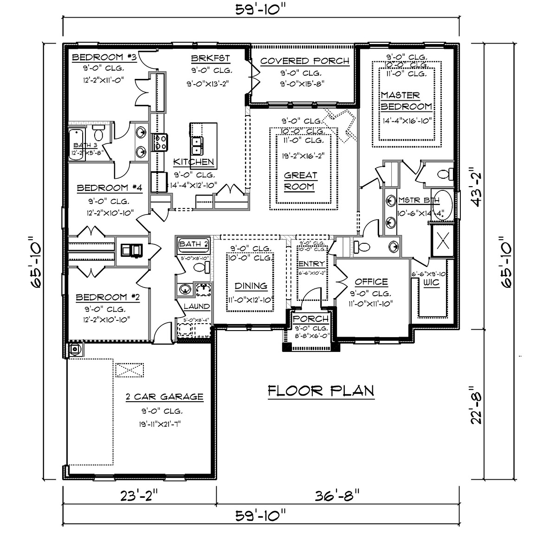 The Avery Floor Plan, Single Family