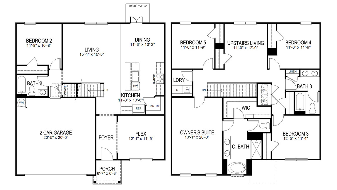 The Hayden Floor Plan, Single Family on 2006 horton homes house plans, horton house floor plans, d.r. horton homes floor plans,