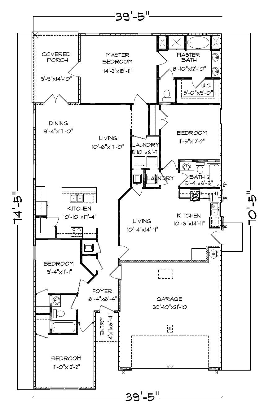 The Kennedy Floor Plan, Single Family