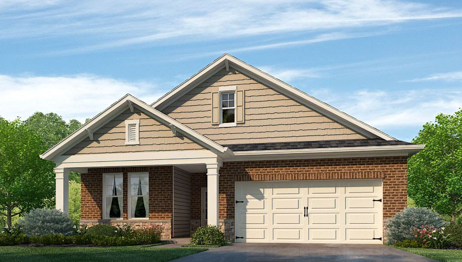 The Robinson by D.R. Horton Huntsville/Madison offers 2,139 square feet, 4 beds, 3 baths, and a 2-car garage