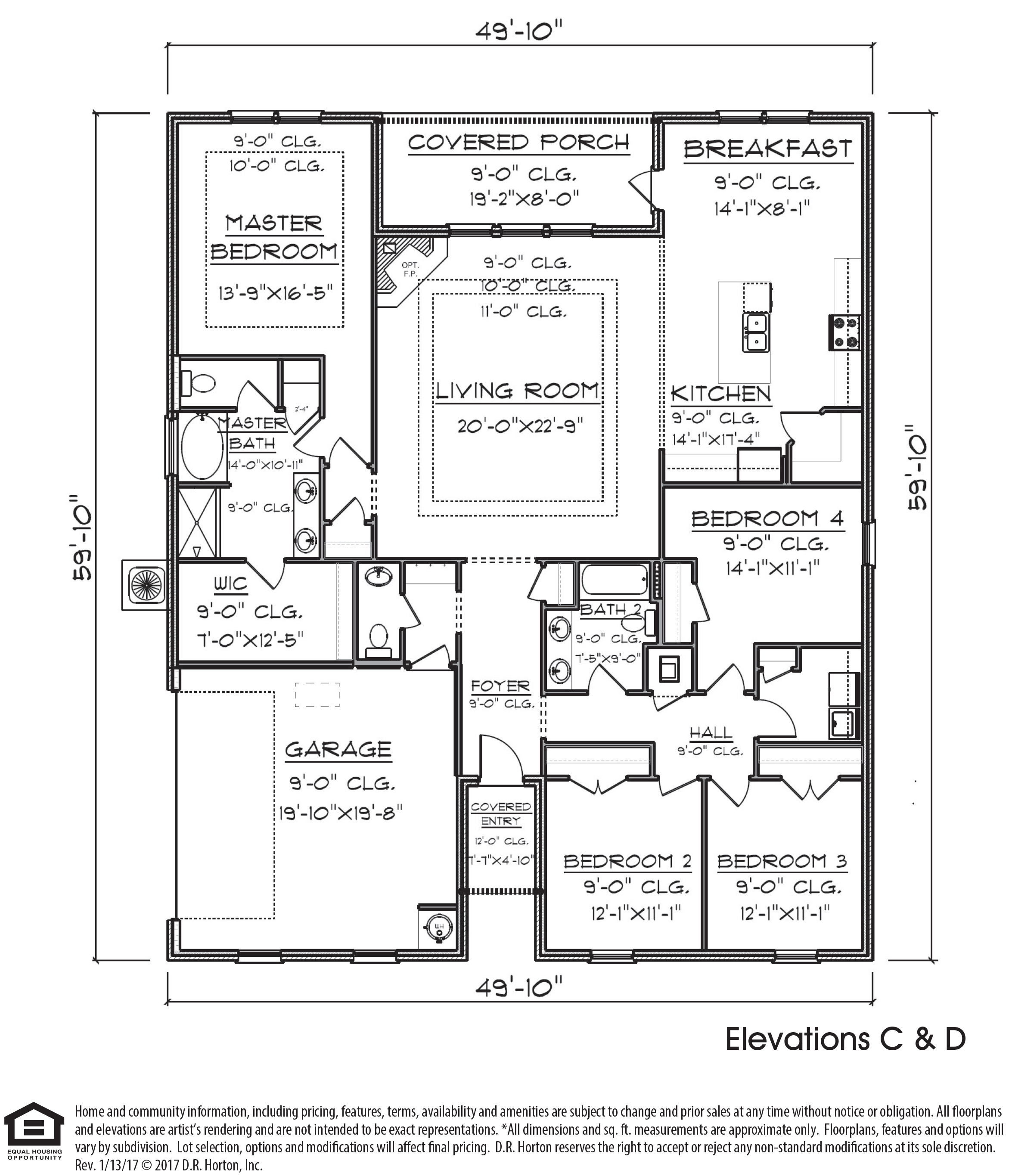 The Victoria new home side-entry floor plan