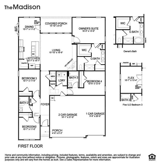 The Madison Floor Plan, Single Family