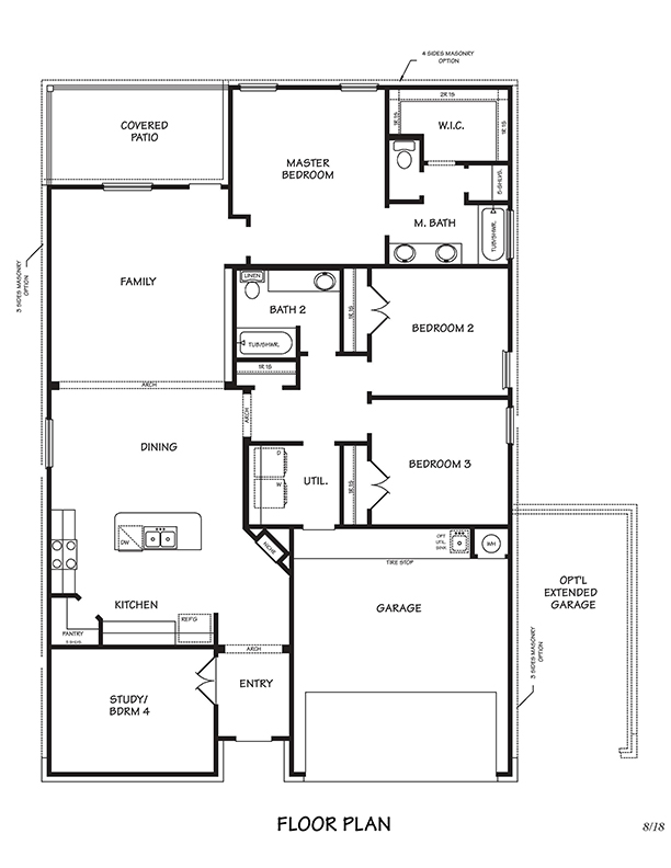 Richmond Floor Plan, Single Family