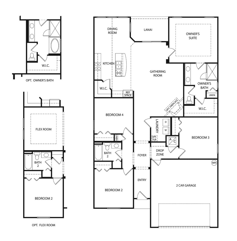 Osprey Floor Plan, Single Family