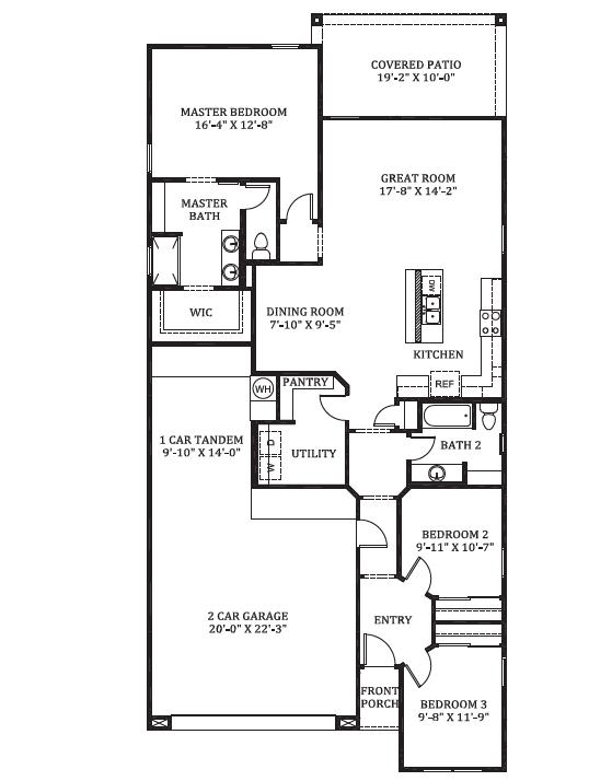 D.R. Horton Tartesso Express Dove Floor Plan
