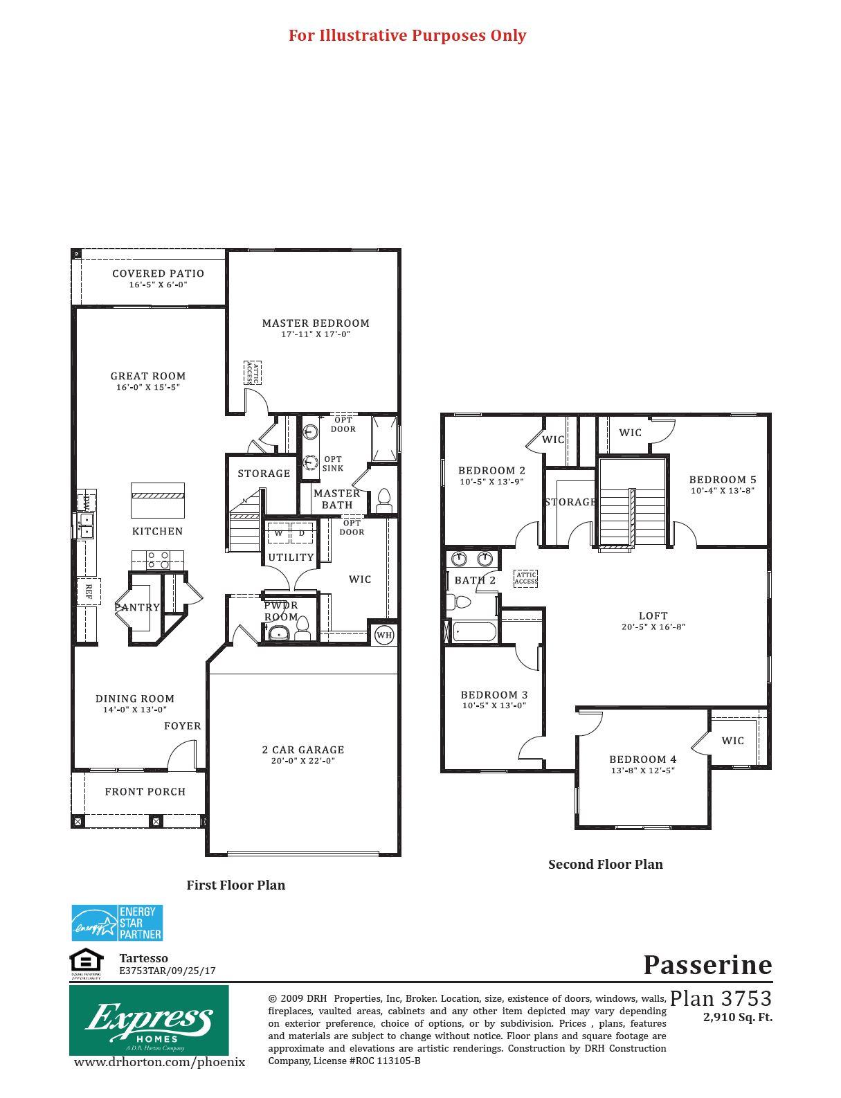 D.R. Horton Tartesso Express Passerine Floor Plan