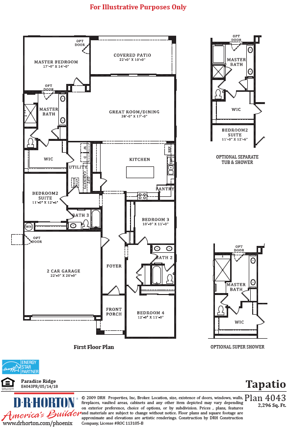 D.R. Horton Paradise Ridge Tapatio Floor Plan