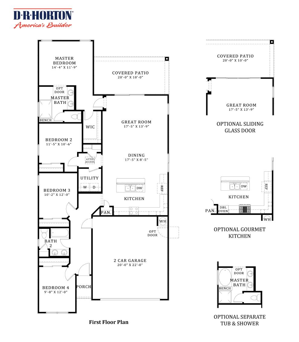 D.R. Horton Stone Butte Palo Verde Floor Plan