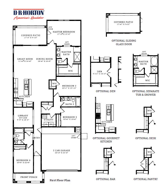 D.R. Horton Stone Butte Bluebird Floor Plan
