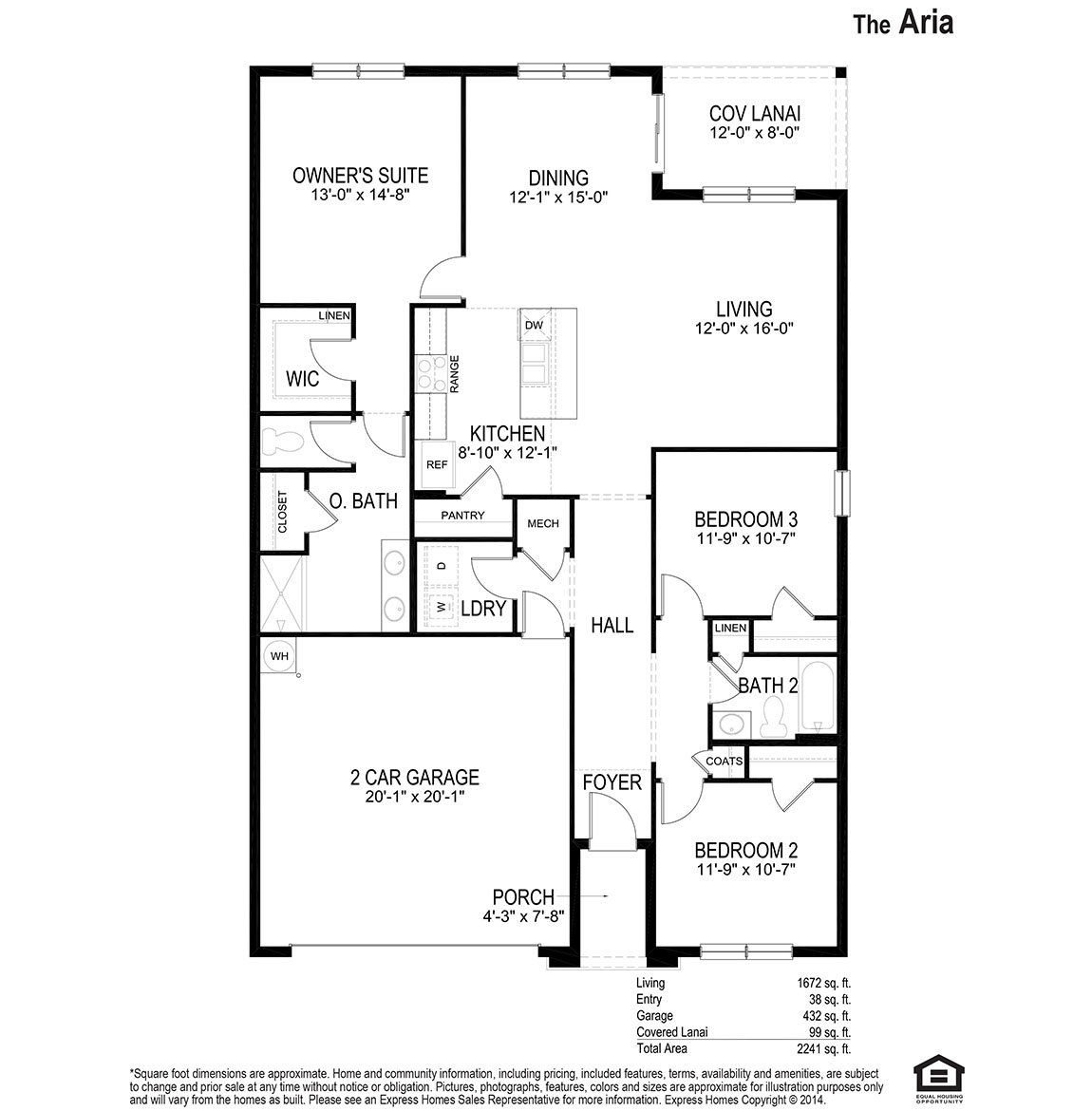 Aria - Floor Plan