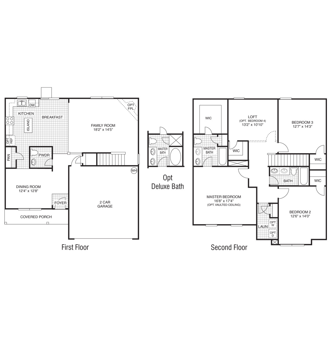 Two Story Dr Horton 5 Bedroom Floor Plans House Storey