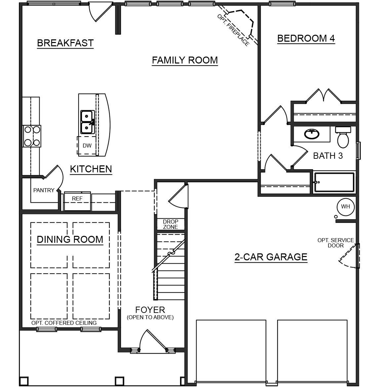 South Ridge Floor Plans: Fleetwood First Floor