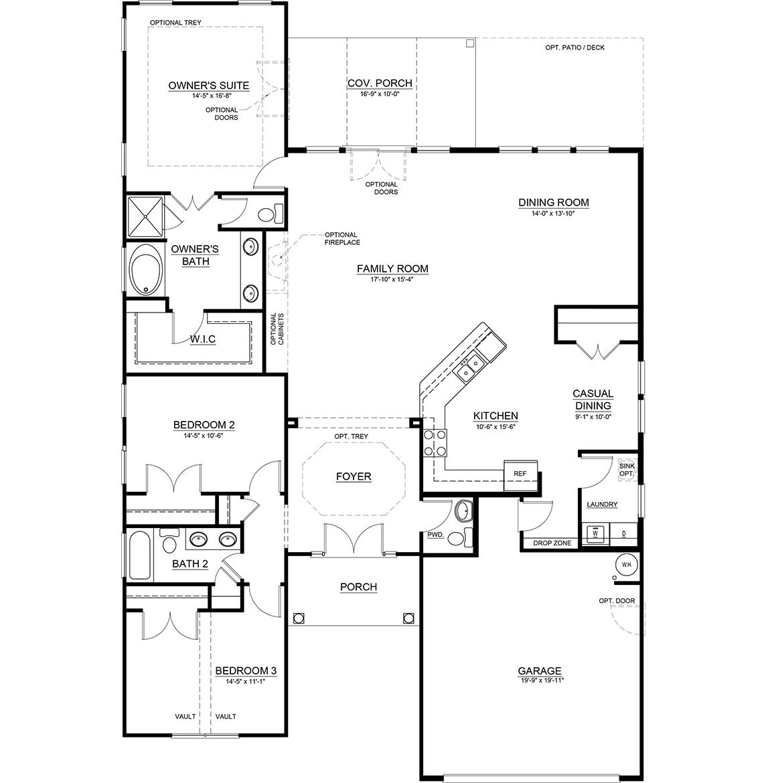 Coastal Floor Plan, Single Family