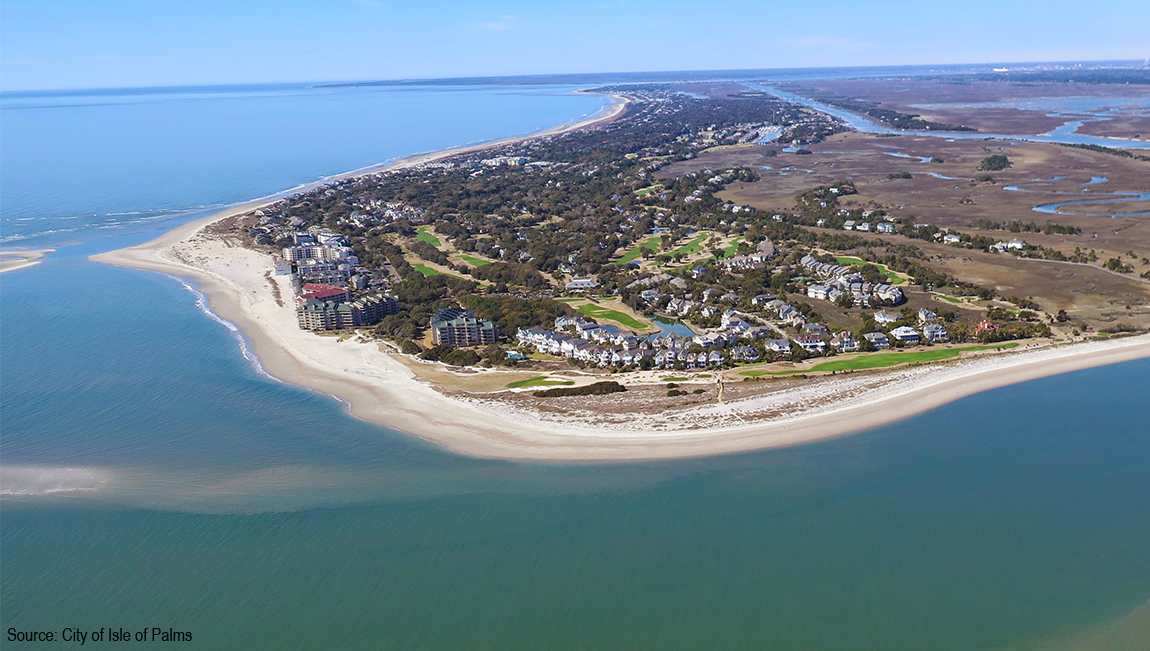 Aerial View Showing All of Isle of Palms