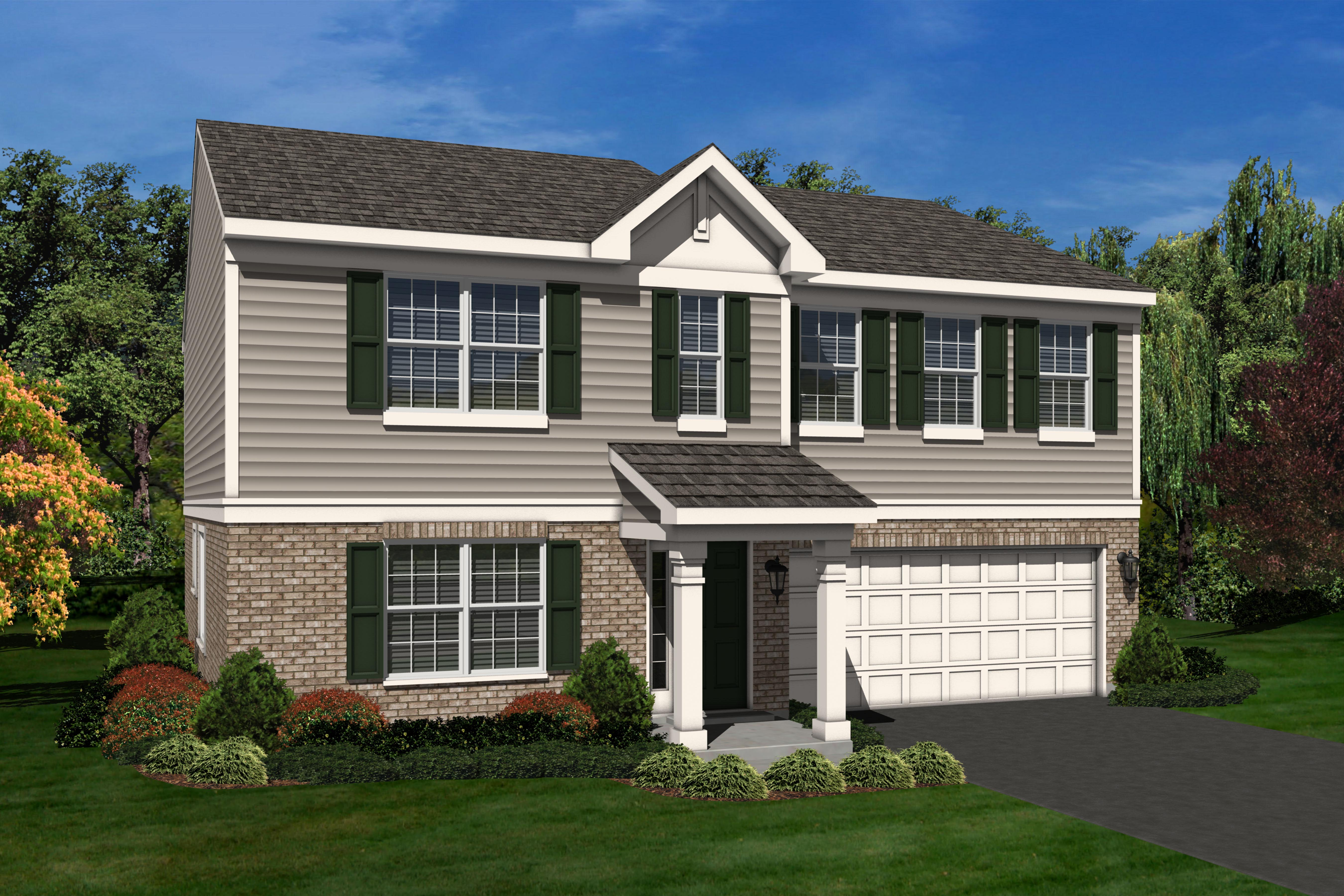 The A Elevation Of The Glenmont A 2 630 Square Foot New