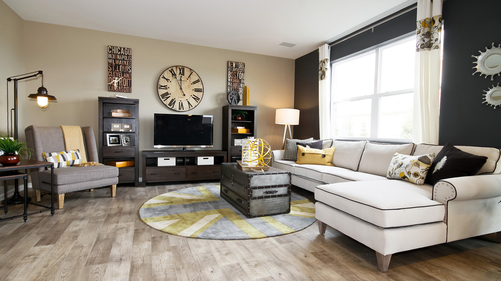 The Family Room Of The Arlington A 2 995 Square Foot