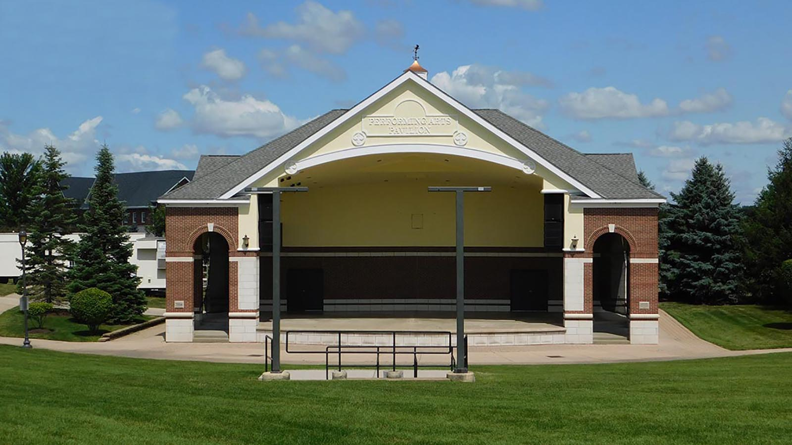 A Bandshell At The New Lenox Commons Near Bristol Park A