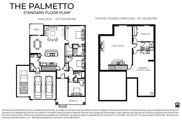 The Palmetto Floor Plan, Single Family