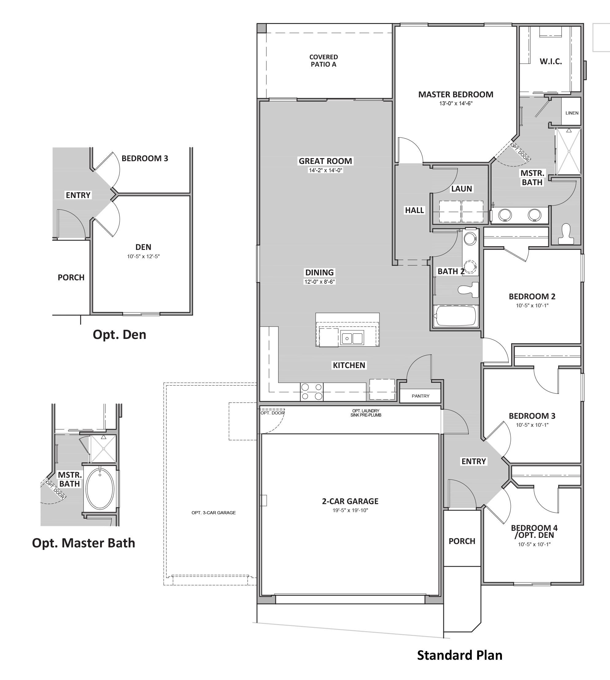 D.R. Horton Sycamore Vista Sparrow - Plan 3524 Floor Plan