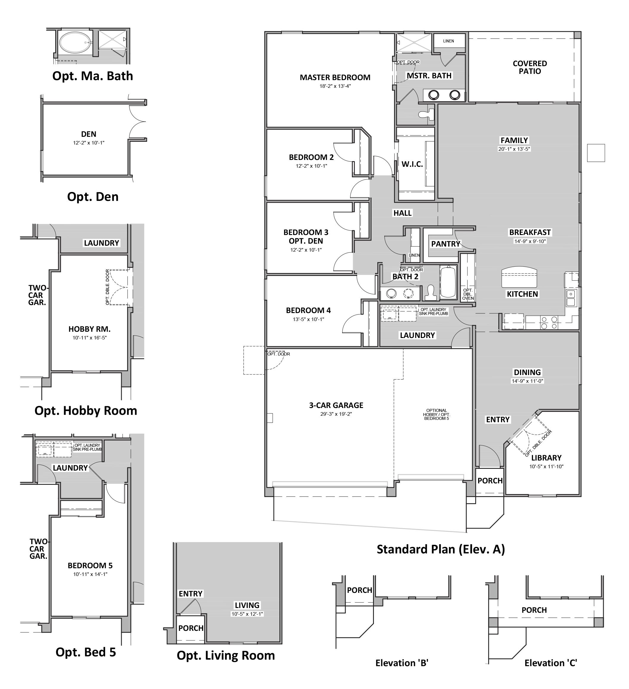 D.R. Horton Sycamore Vista Cypress - Plan 4545 Floor Plan