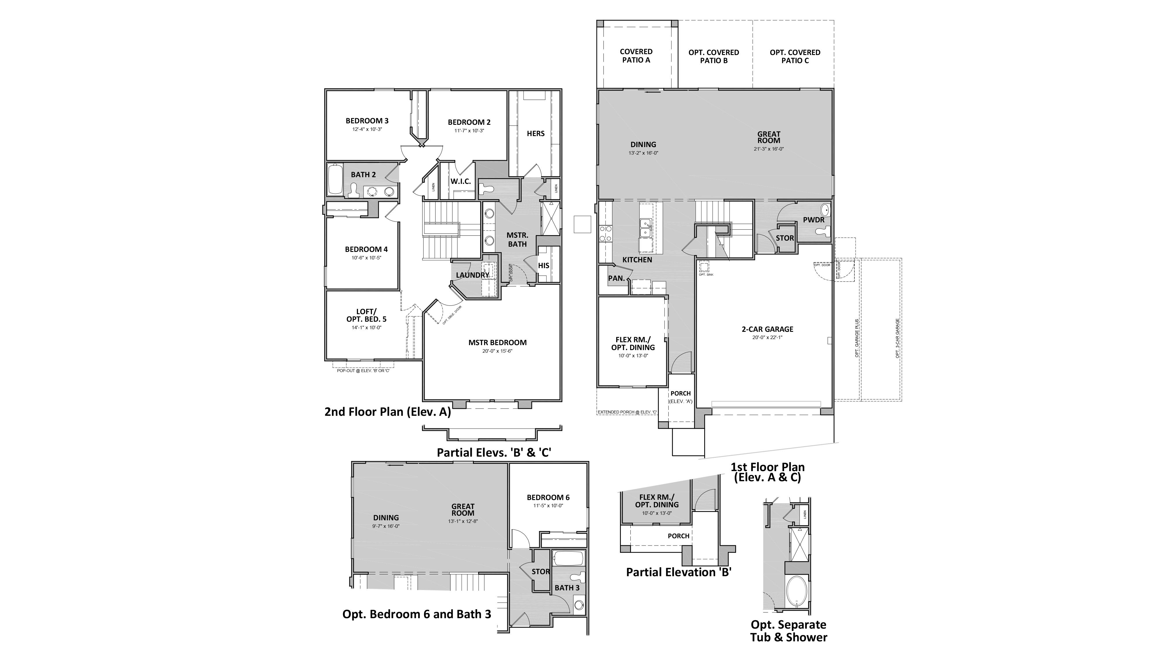 D.R. Horton Sycamore Vista Bronco - Plan 3582 Floor Plan