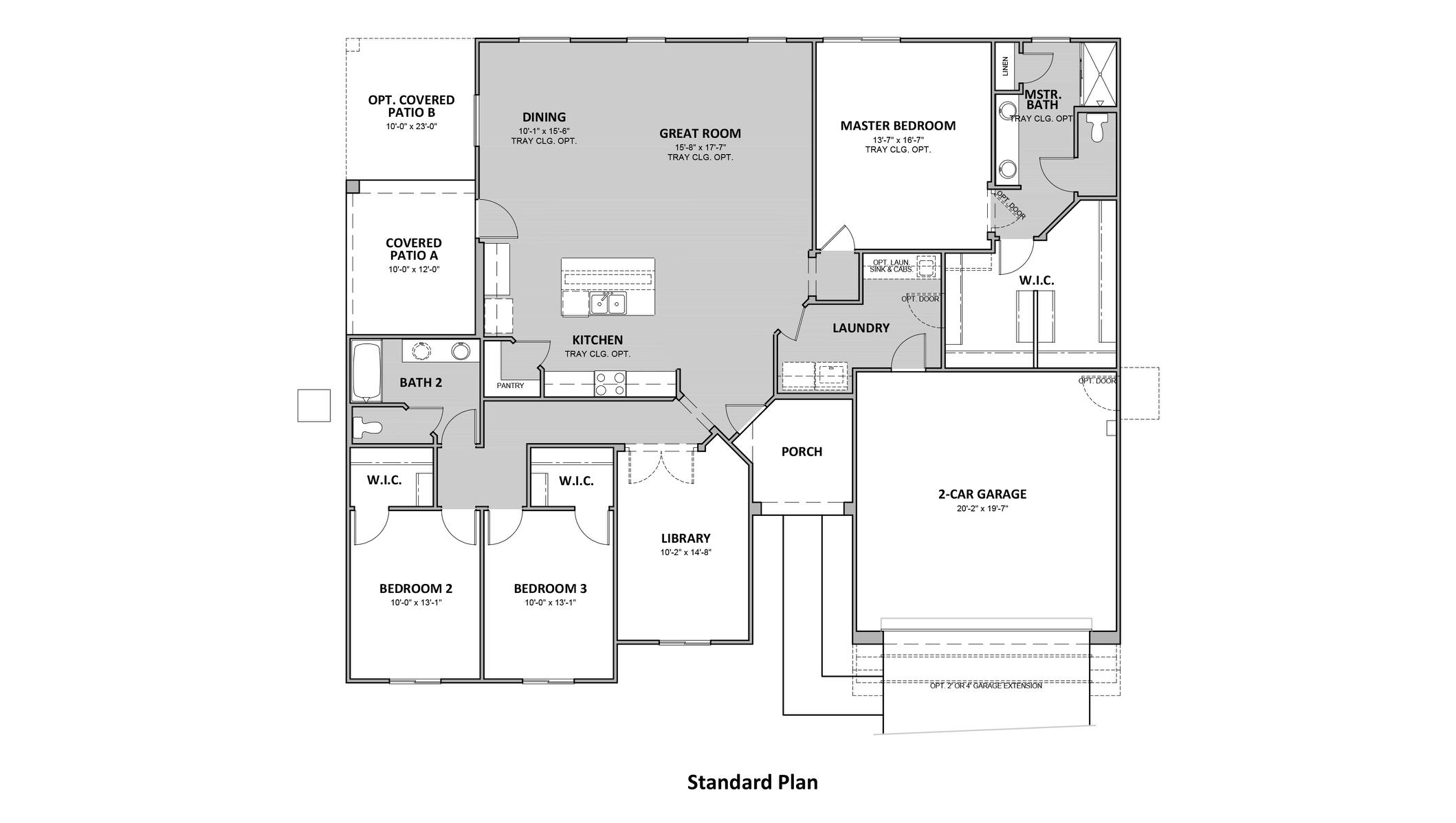D.R. Horton Sycamore Vista Chaparral - Plan 6010 Floor Plan