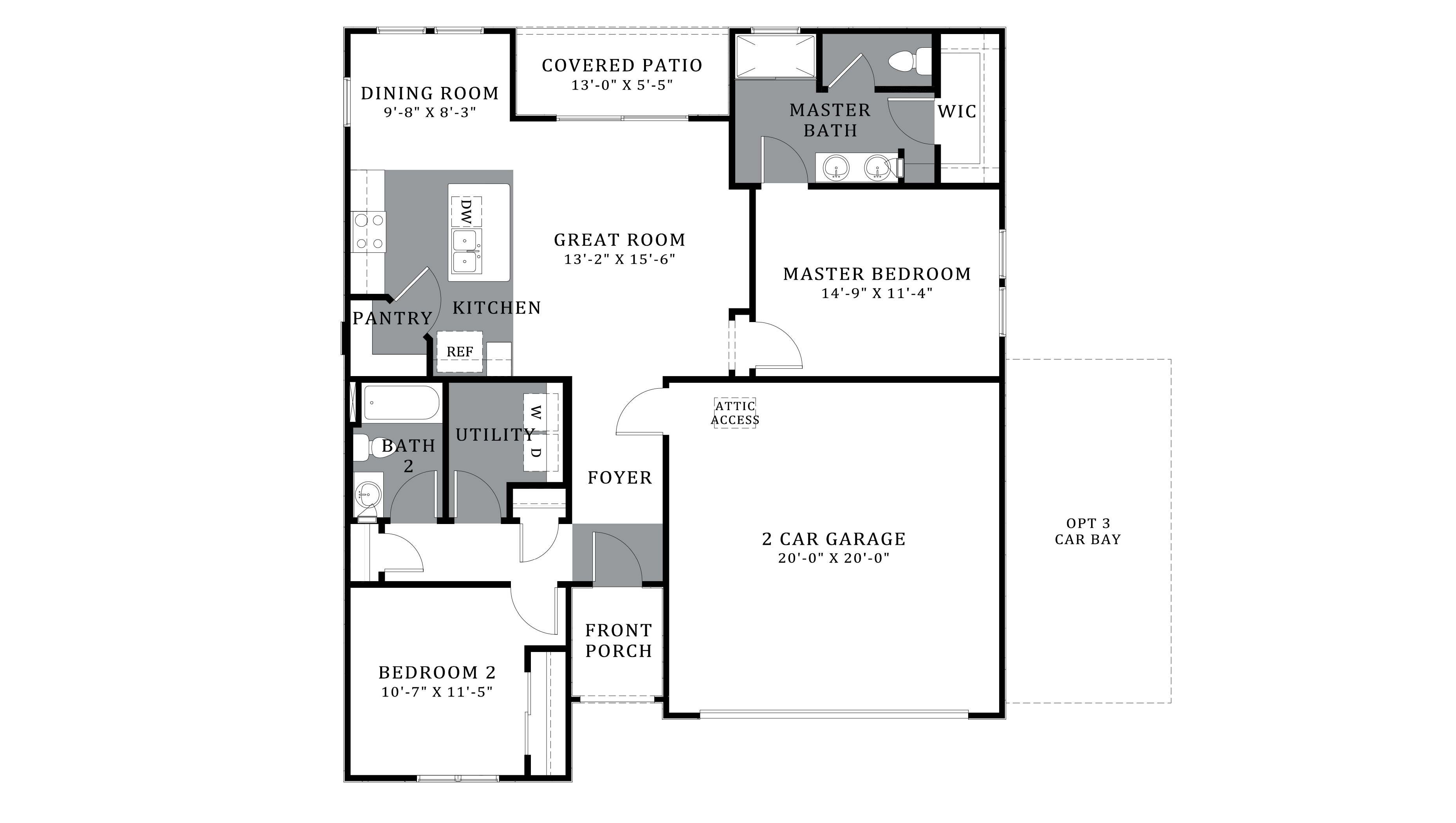 D.R. Horton Saguaro Bloom Freedom Earhart - Plan 1200 Floor Plan