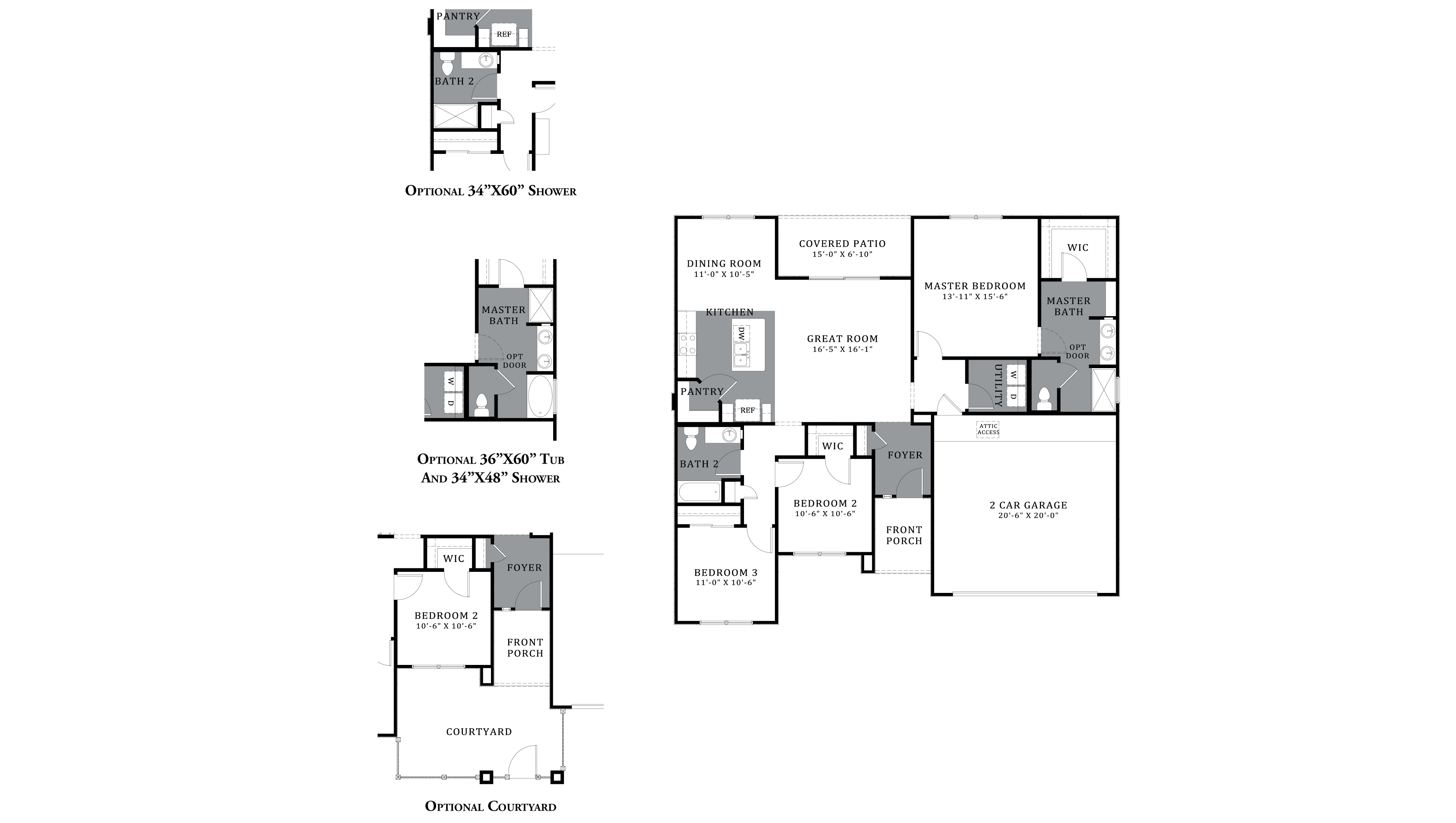 D.R. Horton Saguaro Bloom Freedom Thomas - Plan 1495 Floor Plan