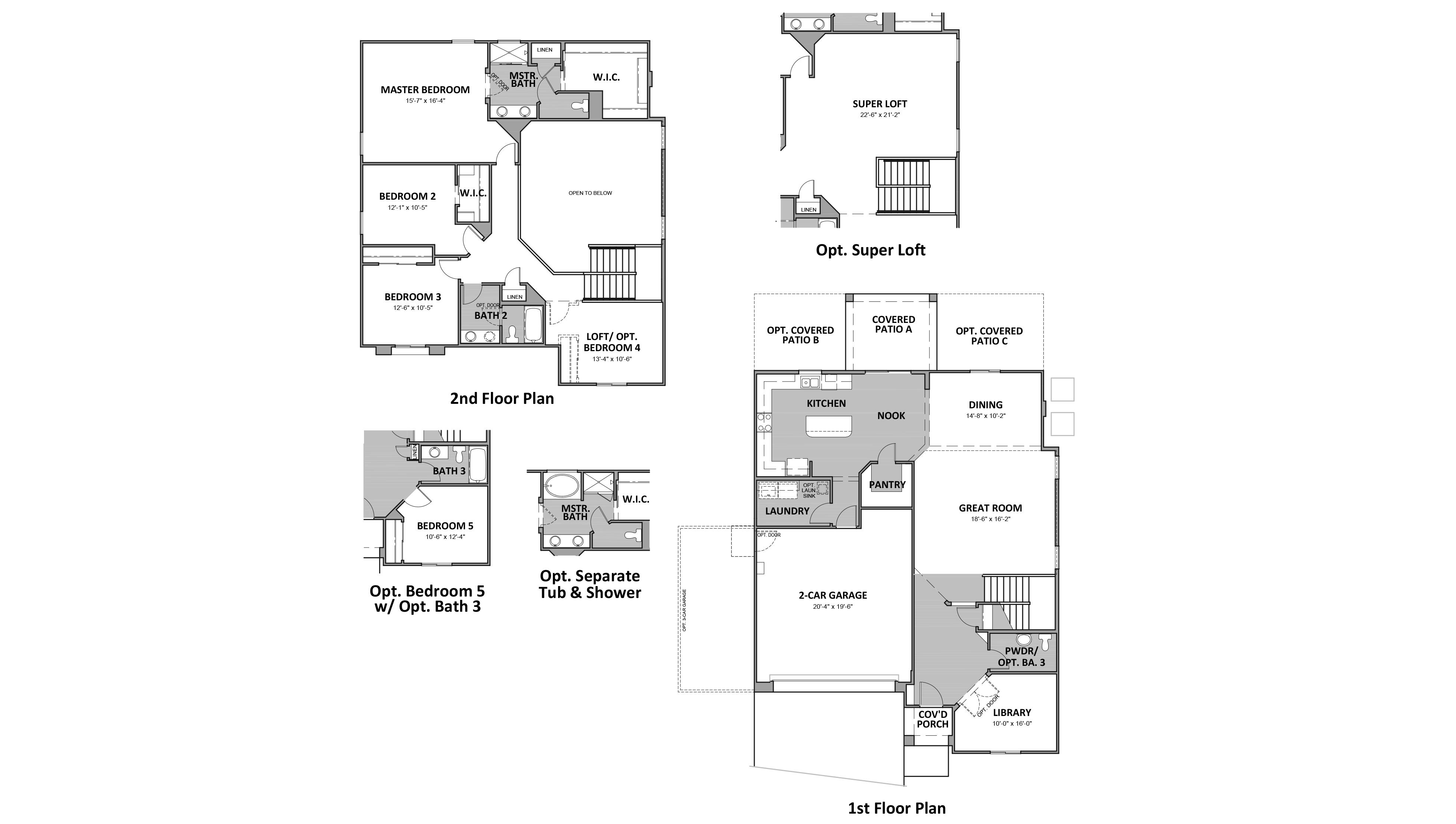 D.R. Horton Vanderbilt Farms Pueblo - Plan 4081 Floor Plan