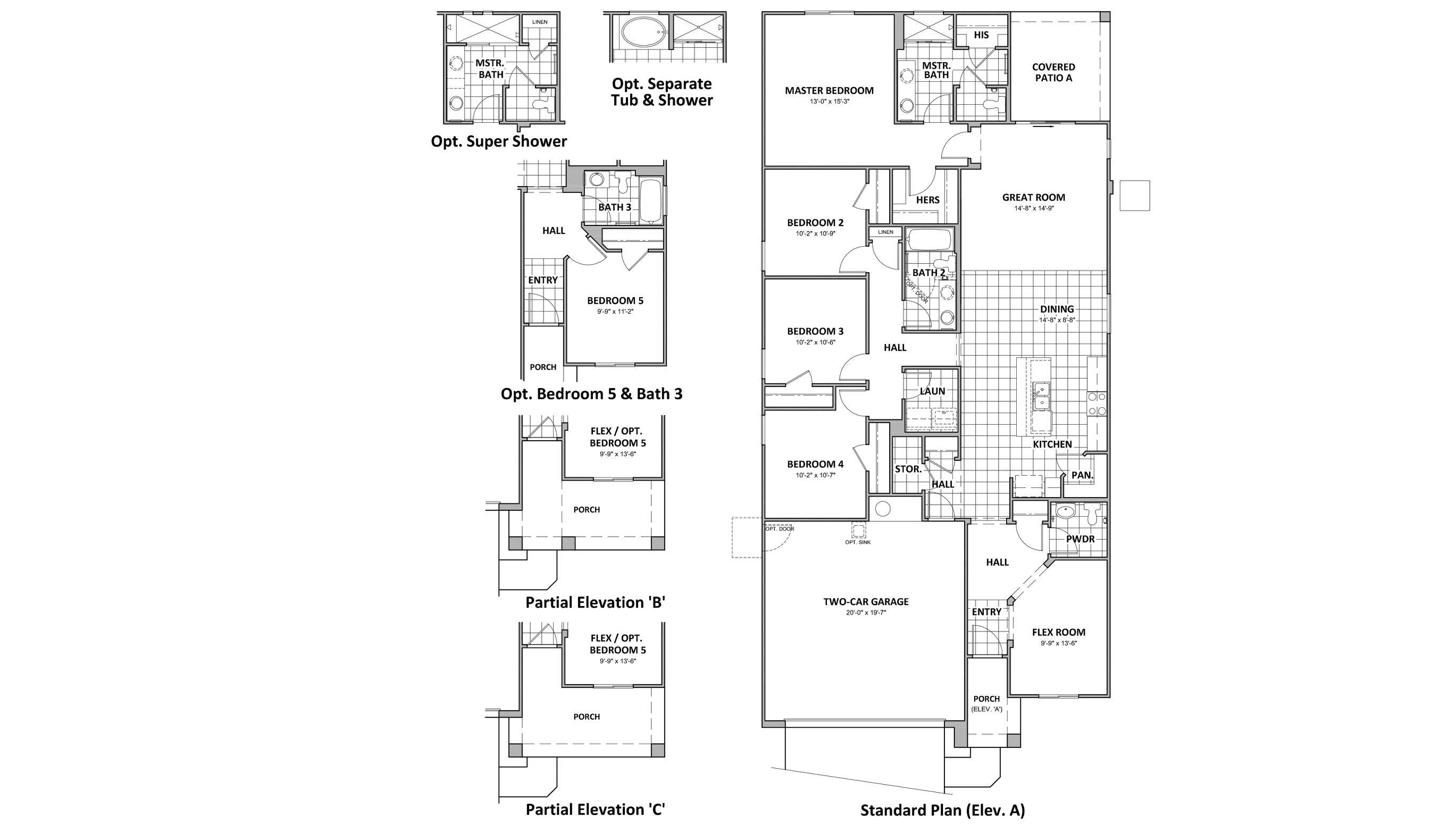 D.R. Horton Palo Verde Ridge Santa Barbara - 3543 Floor Plan
