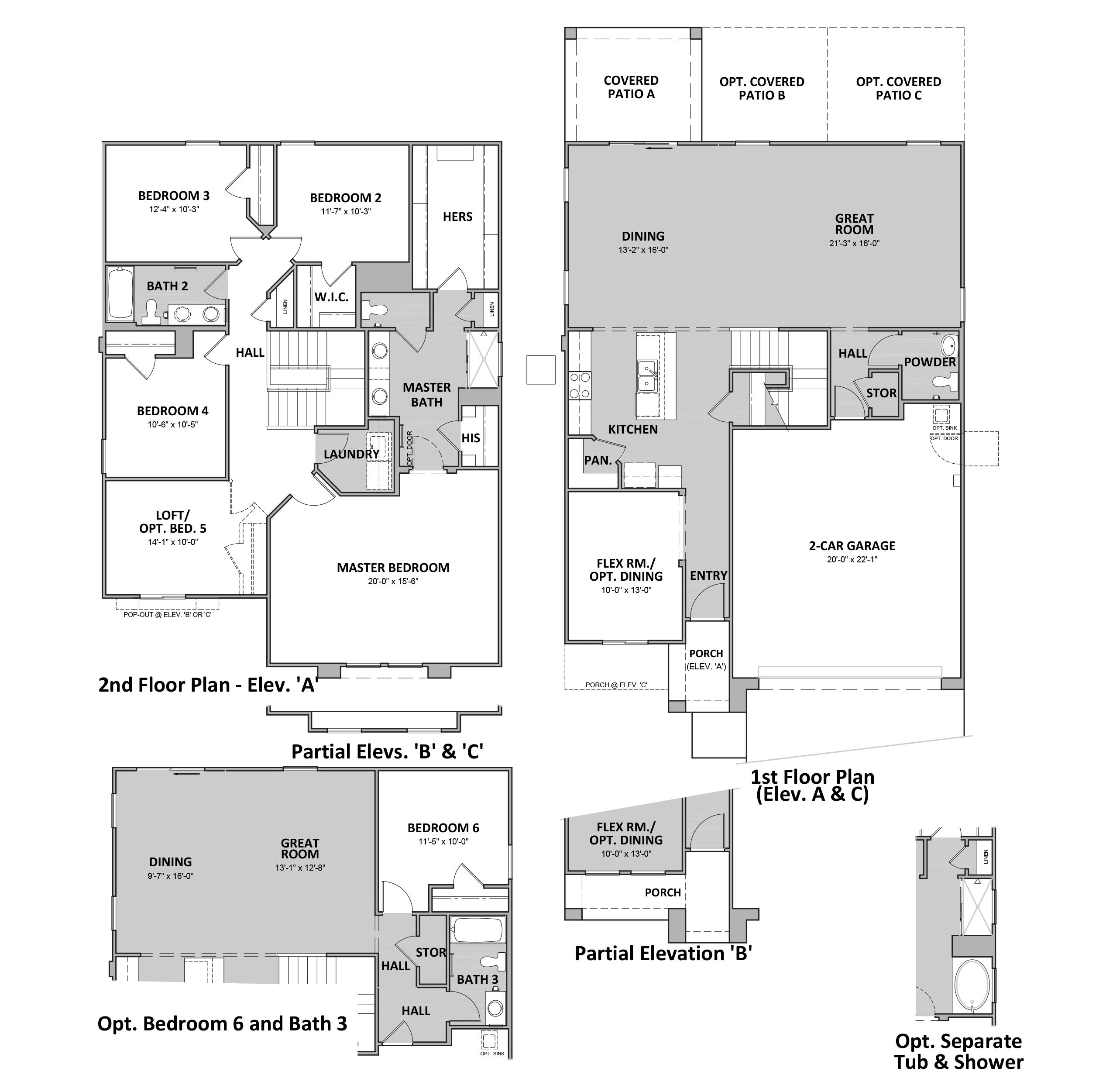 D.R. Horton Palo Verde Ridge Bronco - Plan 3582 Floor Plan