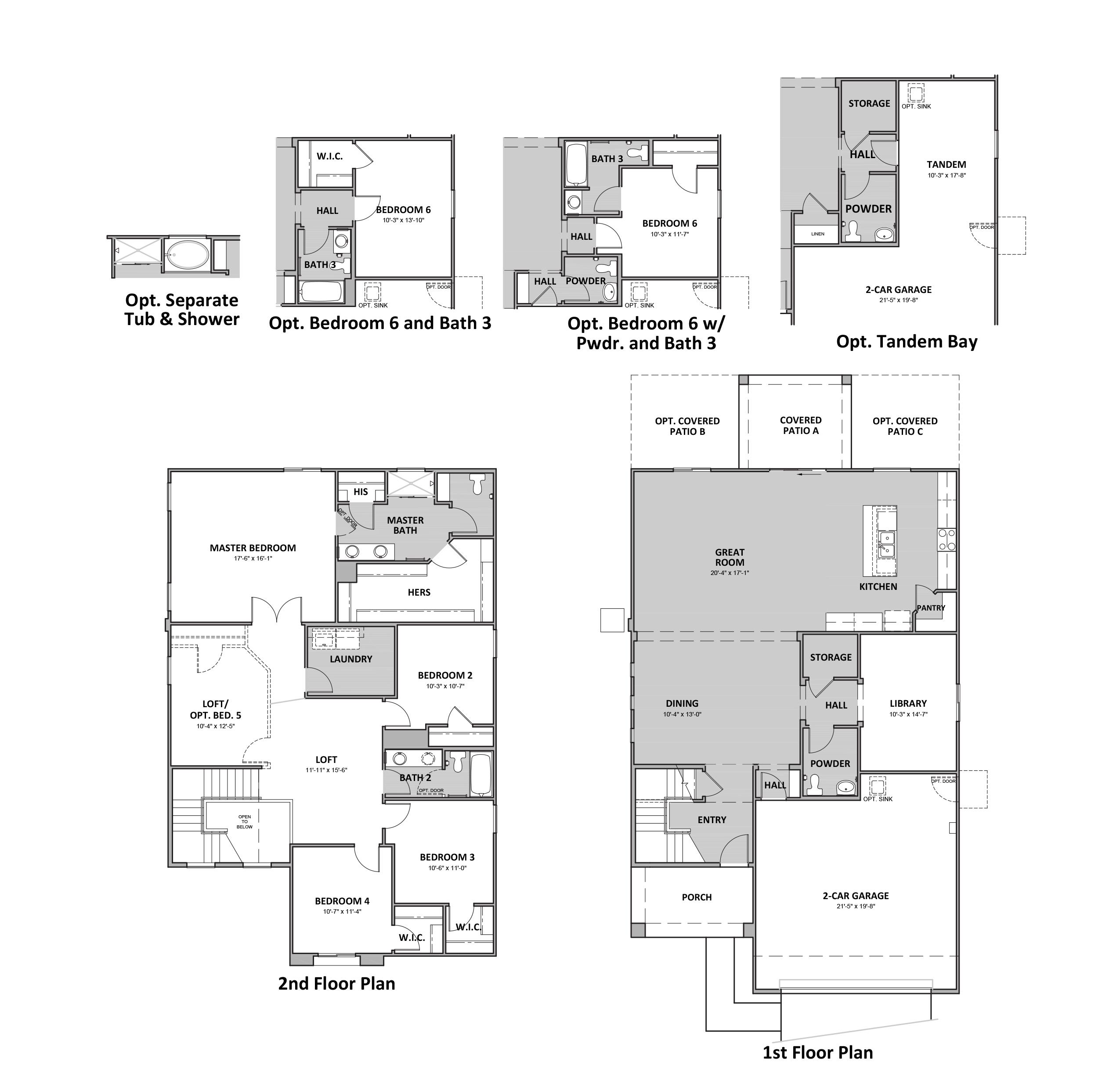 D.R. Horton Palo Verde Ridge Lariat - Plan 3585 Floor Plan