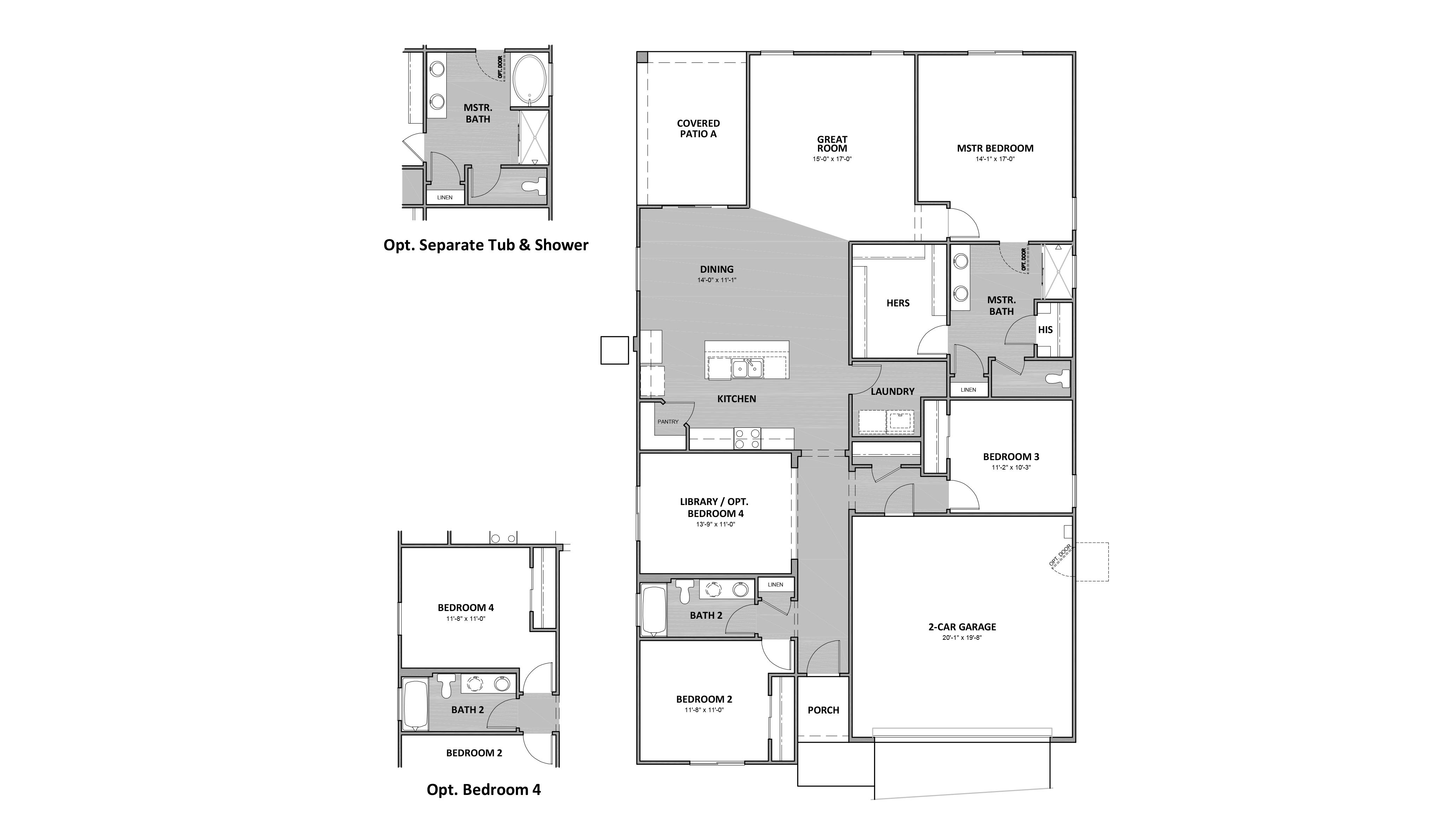D.R. Horton Hardy Estates Ocotillo - 4052 Floor Plan