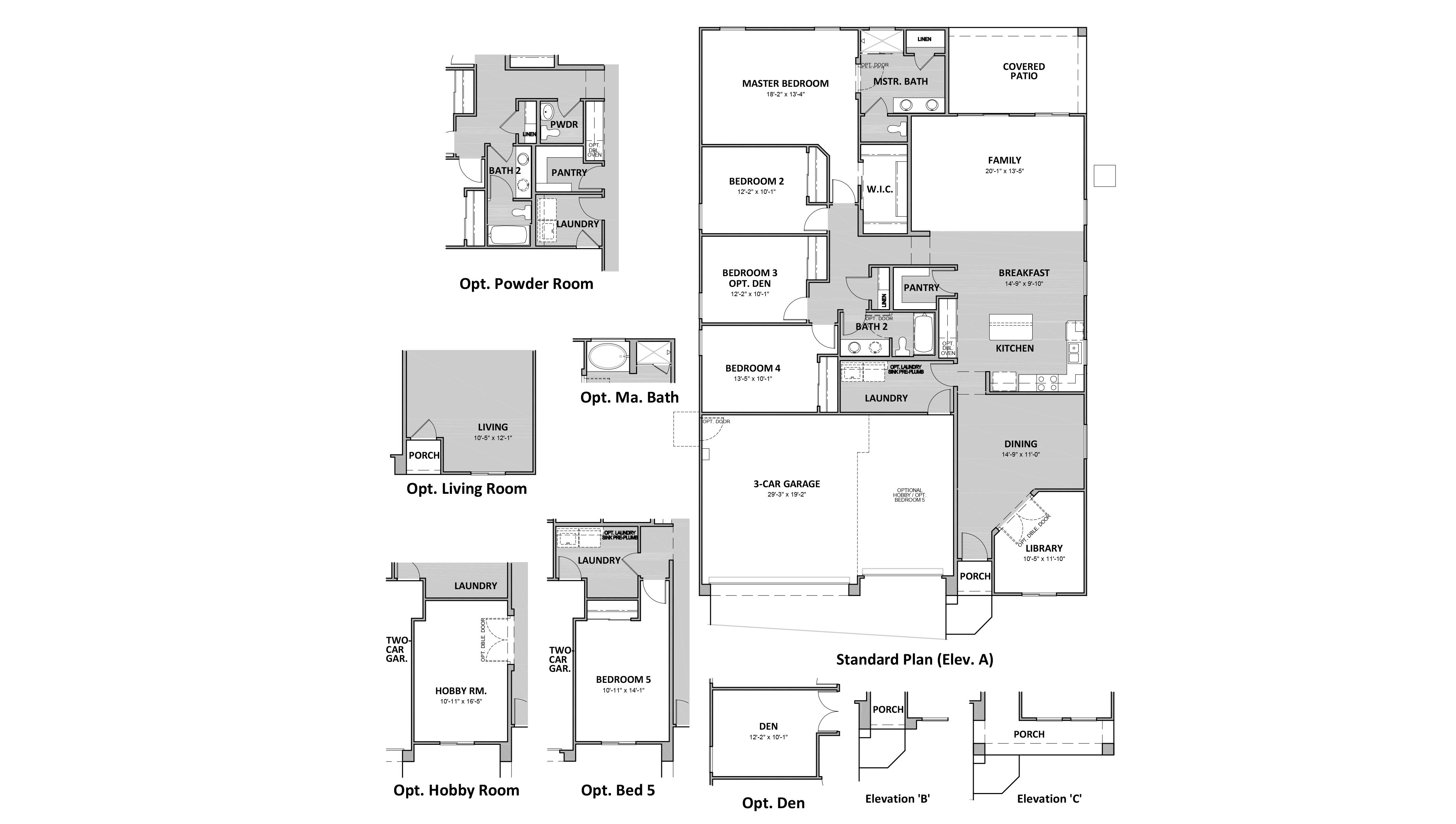 D.R. Horton Hardy Estates Cypress - 4545 Floor Plan