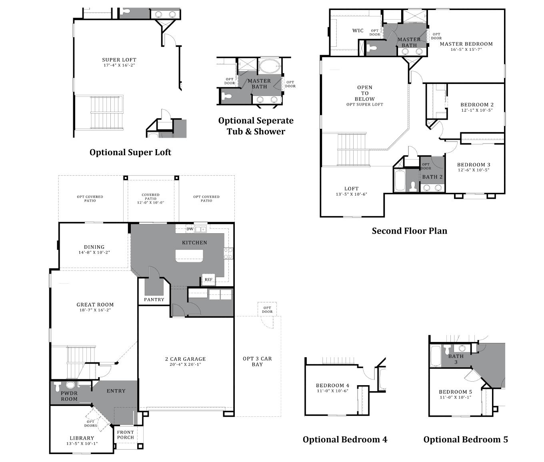 D.R. Horton Vahalla Ranch Estates Pueblo - Plan 4081 Floor Plan
