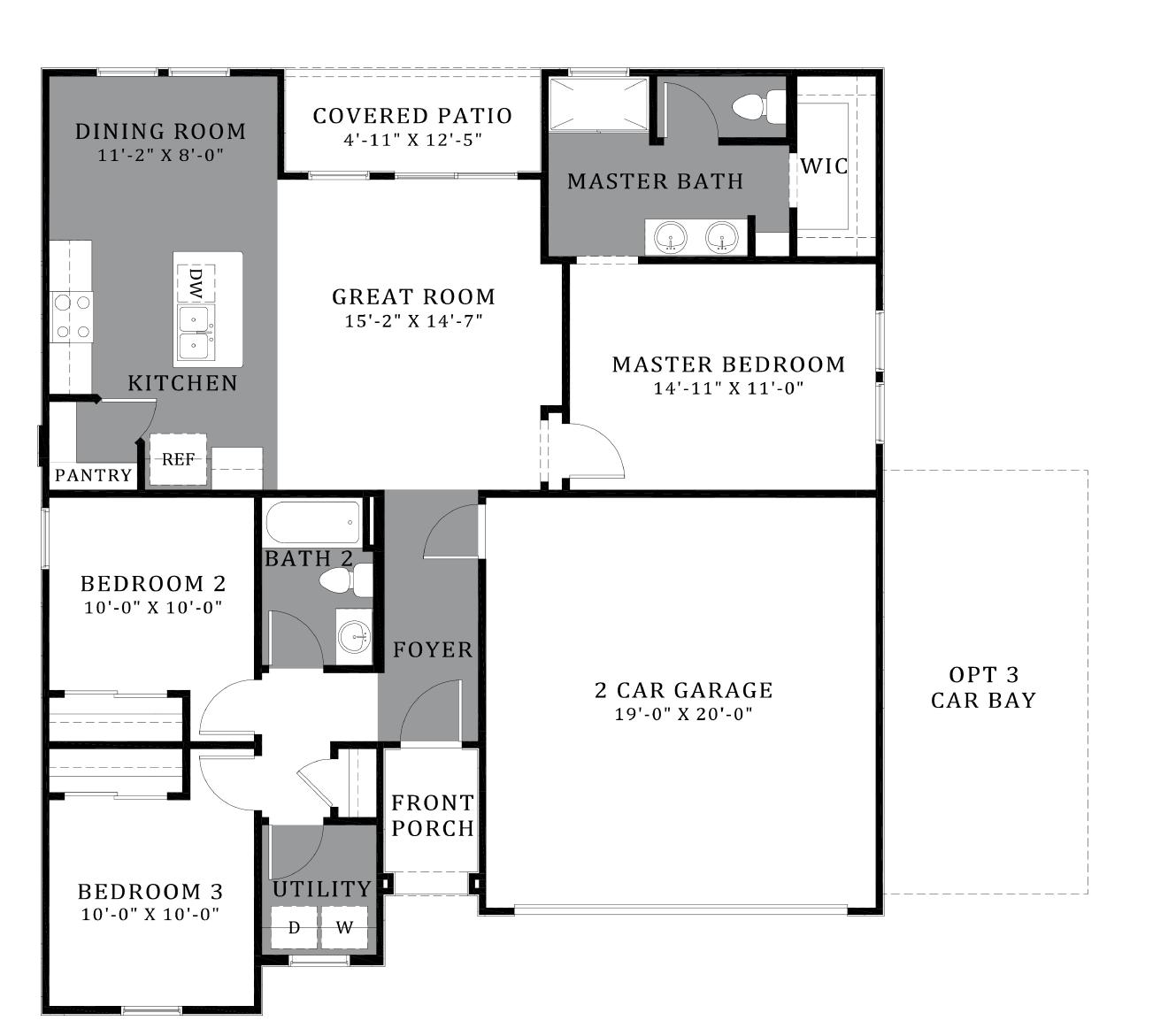 D.R. Horton Vahalla Ranch Estates Jasmine - Plan 4120 Floor Plan