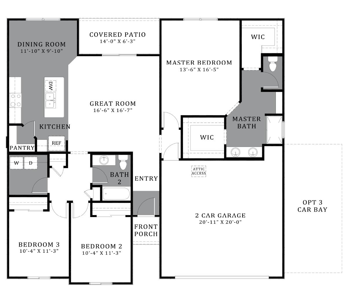 D.R. Horton Vahalla Ranch Estates Azalea - Plan 4816 Floor Plan