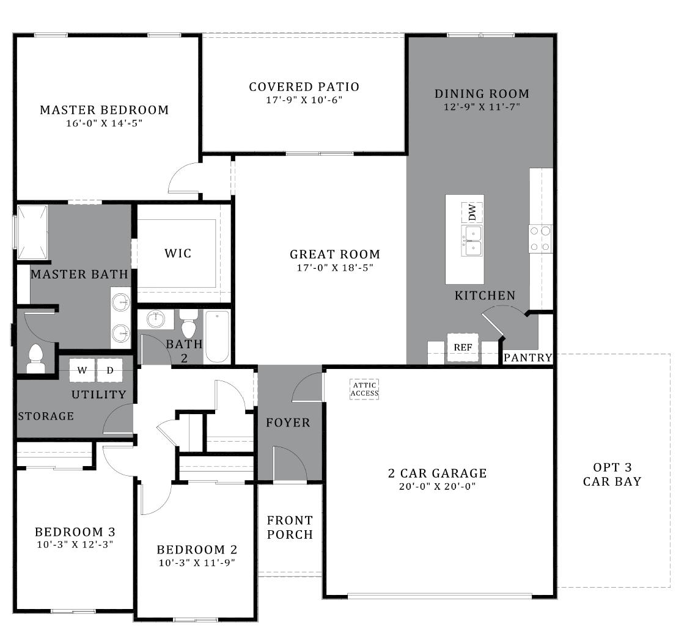 D.R. Horton Vahalla Ranch Estates Orchid - Plan 4818 Floor Plan
