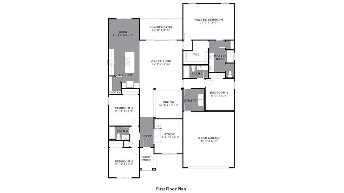 D.R. Horton Vahalla Ranch Estates Pearl - Plan 5032 Floor Plan