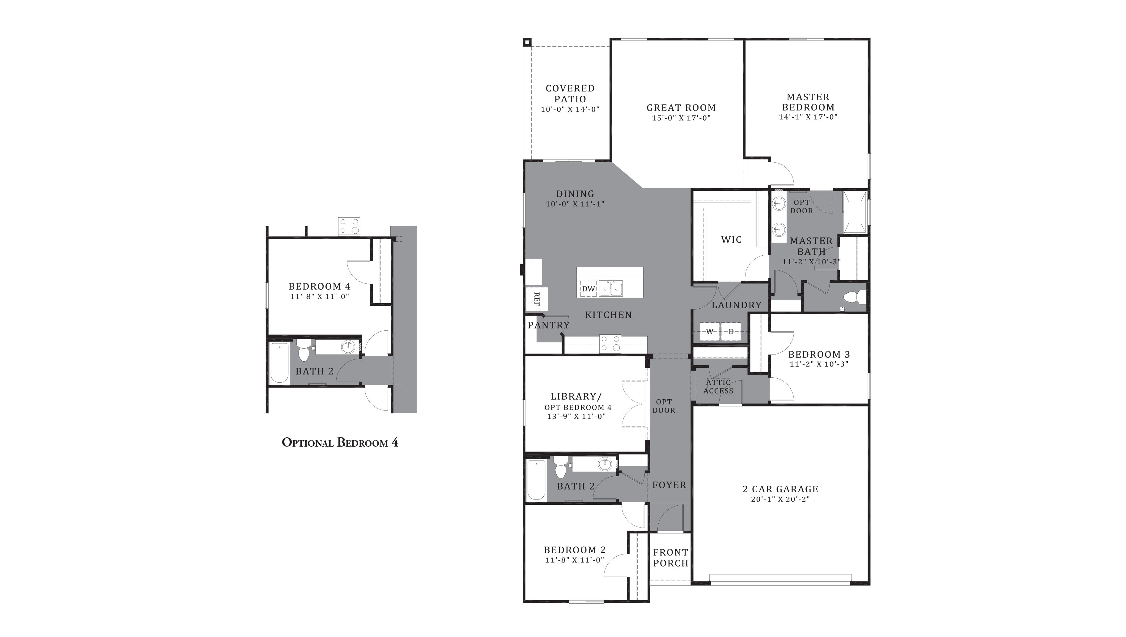 D.R. Horton Santa Cruz Meadows Ocotillo - Plan 4052 Floor Plan