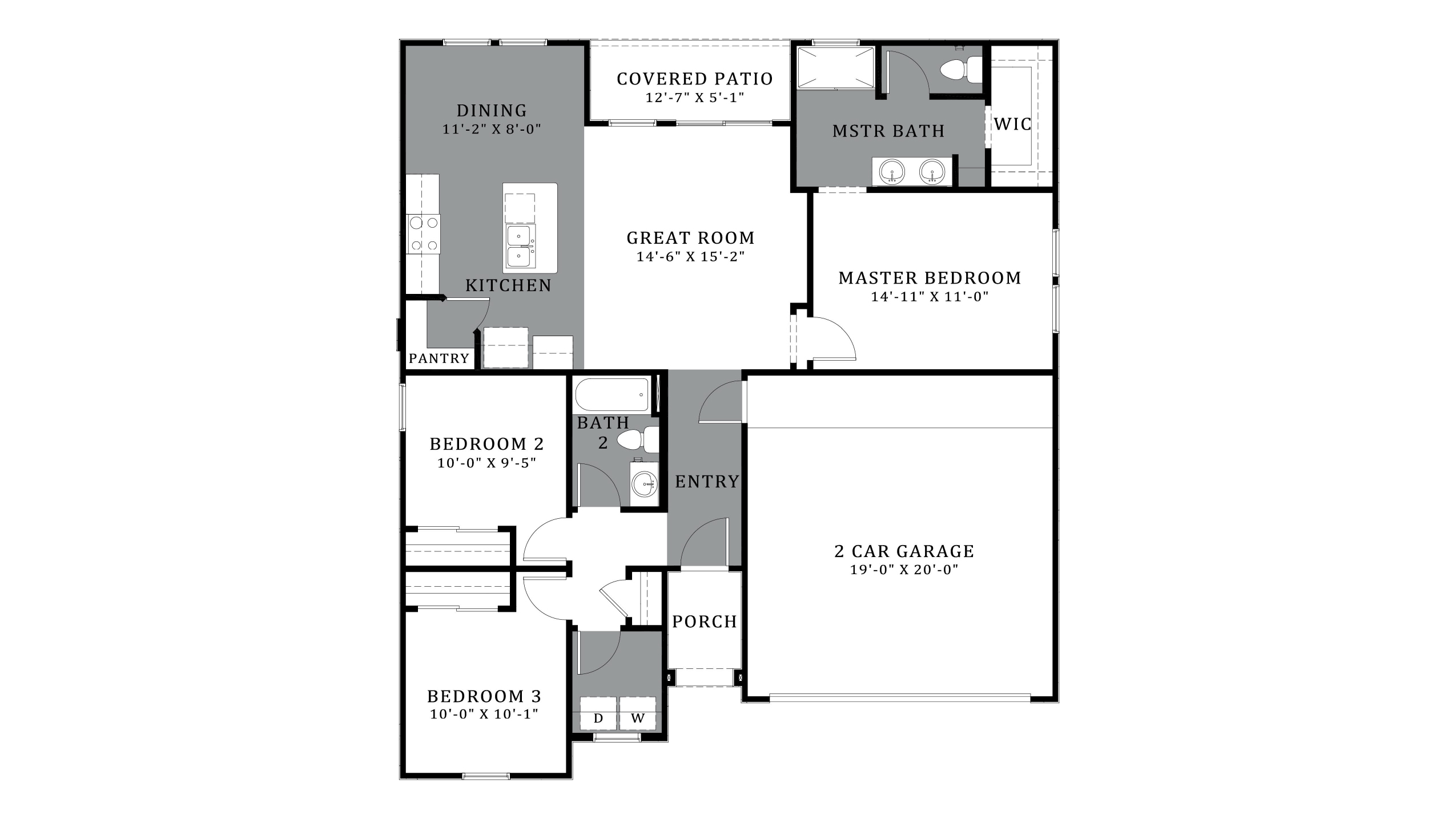 D.R. Horton Santa Cruz Meadows Jasmine - Plan 4120 Floor Plan