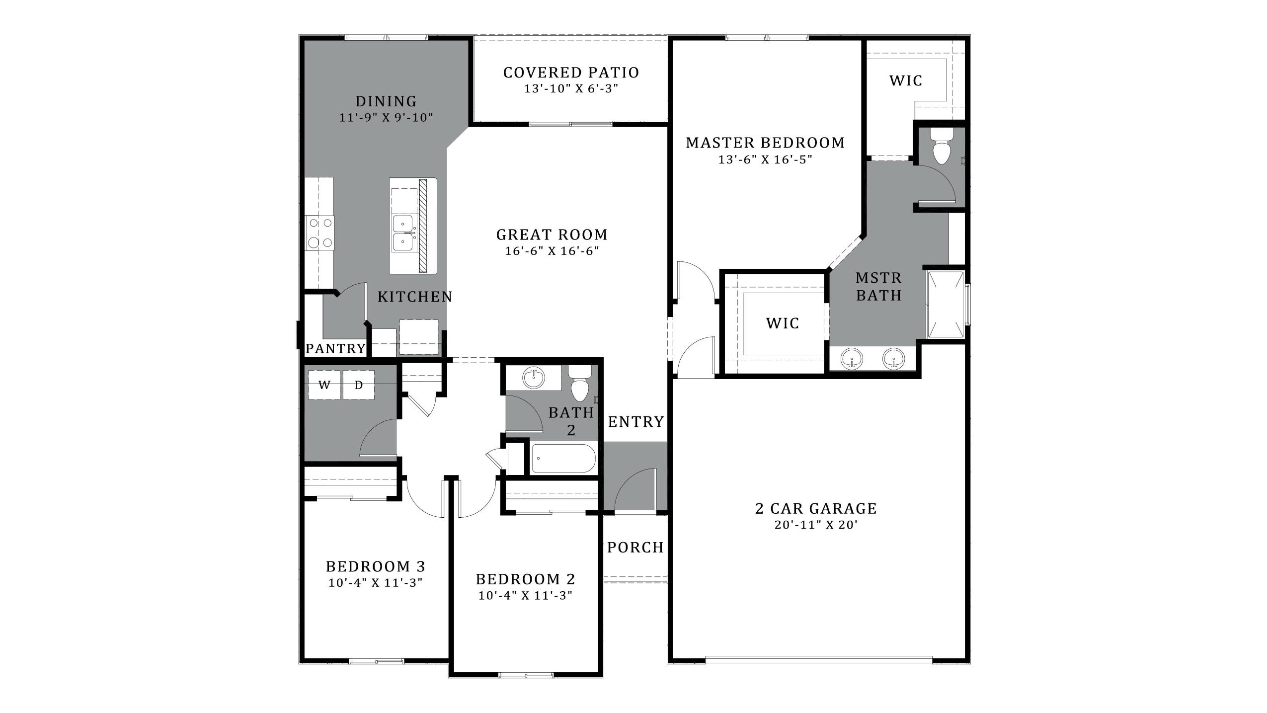 D.R. Horton Santa Cruz Meadows Azalea - Plan 4816 Floor Plan