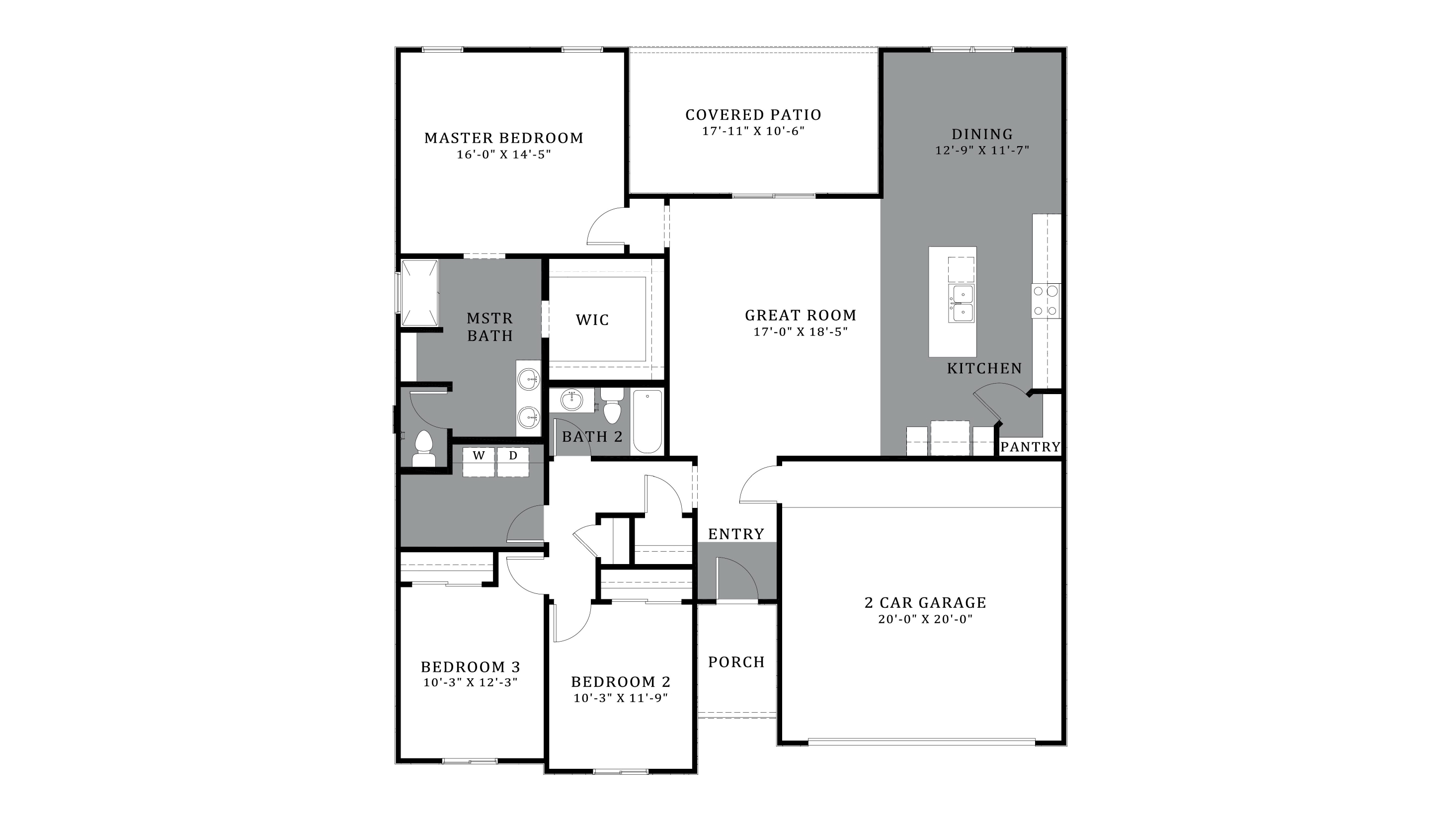 D.R. Horton Santa Cruz Meadows Orchid - Plan 4818 Floor Plan