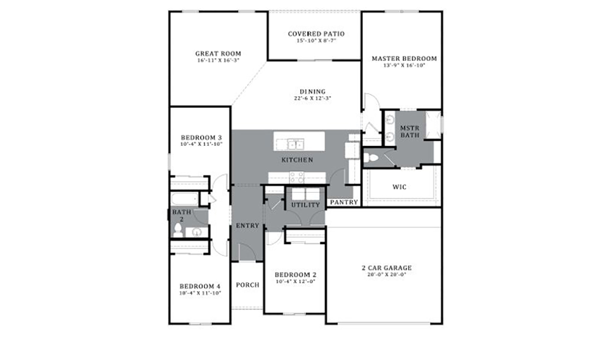 D.R. Horton Santa Cruz Meadows Rose - Plan 4822 Floor Plan