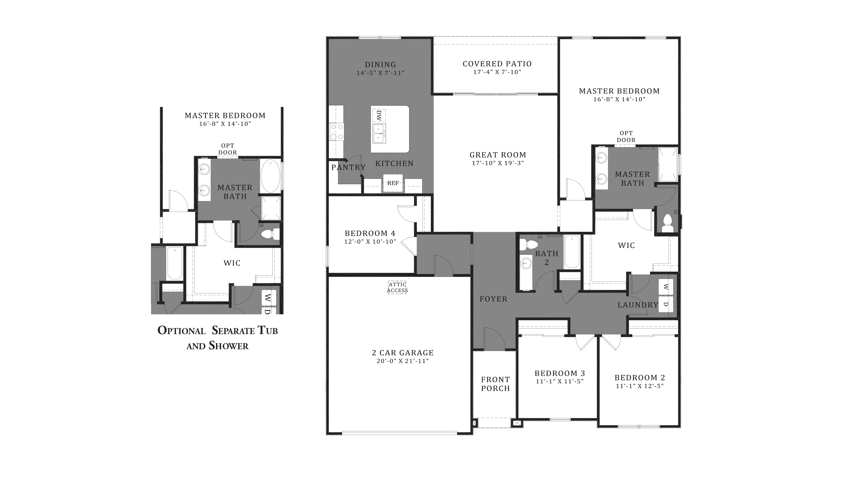 D.R. Horton Santa Cruz Meadows Opal - Plan 5012 Floor Plan