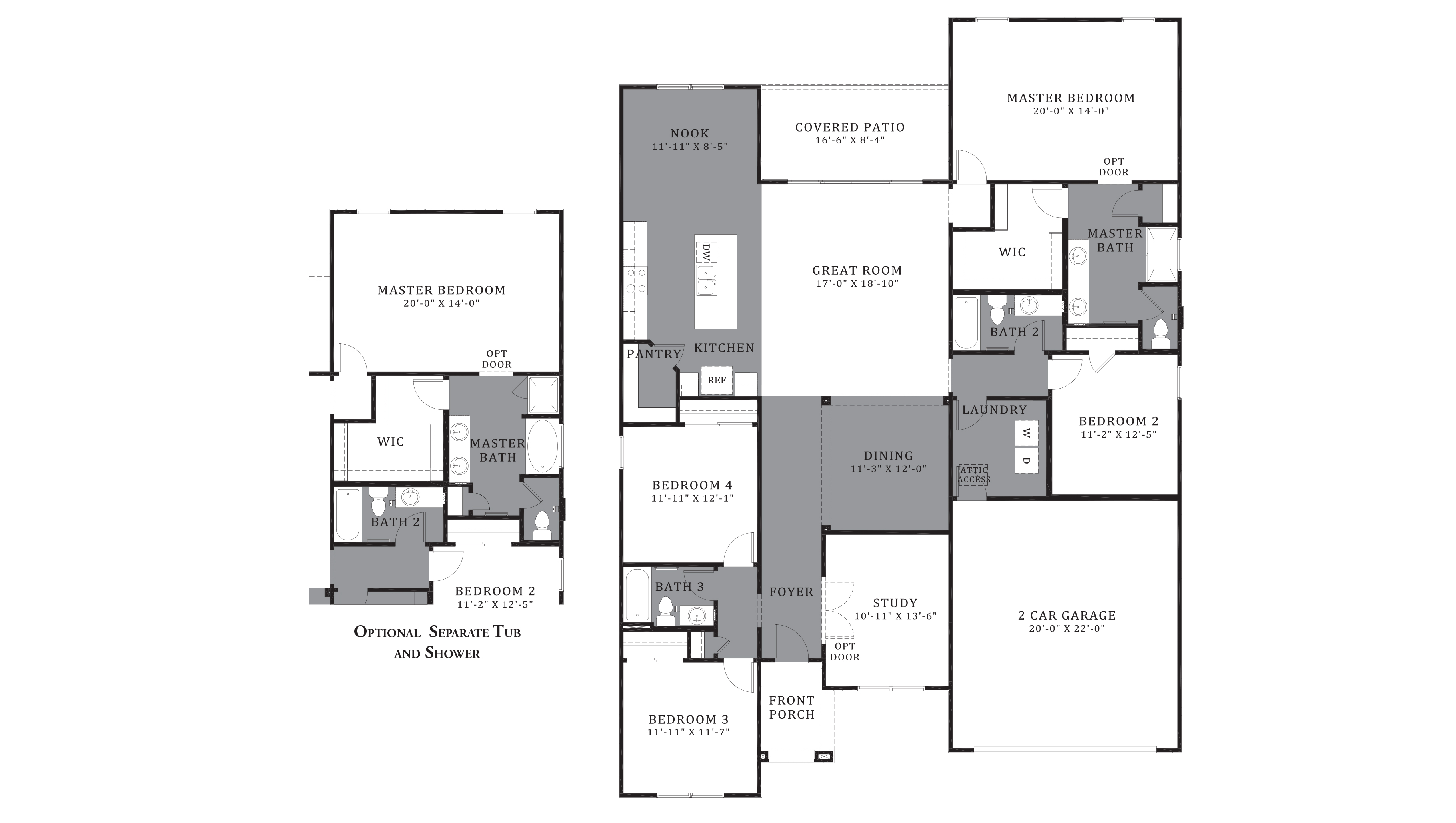 D.R. Horton Santa Cruz Meadows Pearl - Plan 5032 Floor Plan