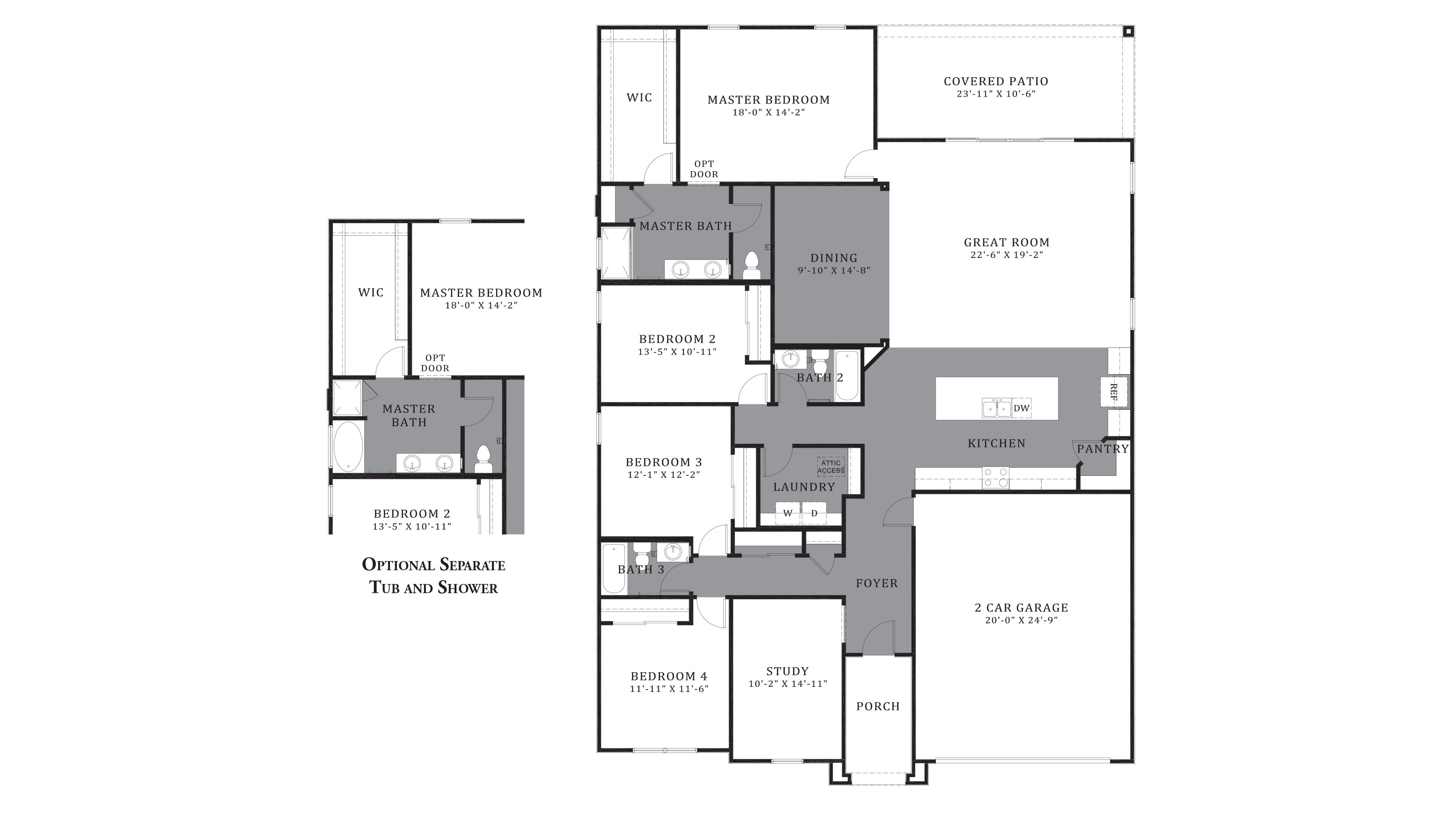 D.R. Horton Santa Cruz Meadows Citrine - Plan 5042 Floor Plan